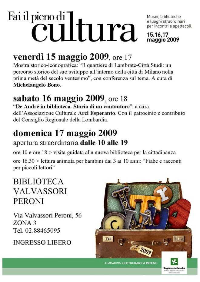 00209FAI IL PIENO DI CULTURA Valvassori