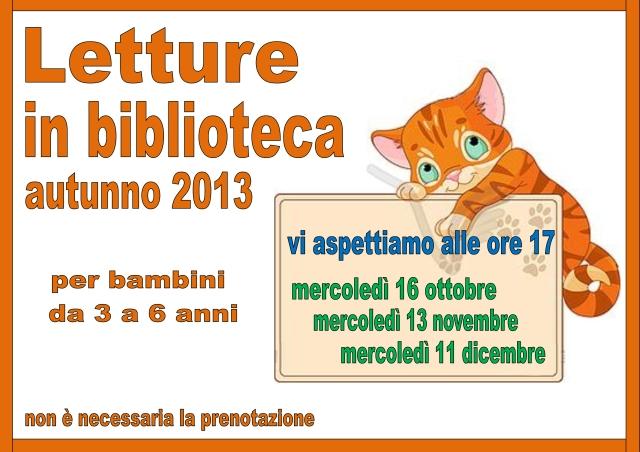 Volantino letture autunno 2013