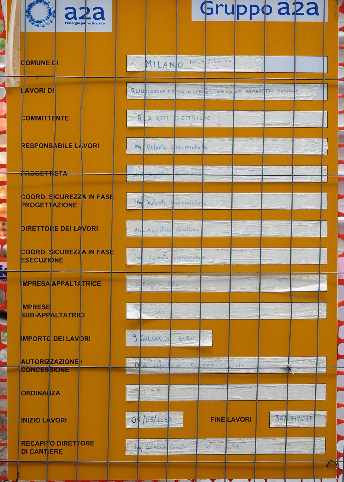 L ampliamento della cabina primaria a2a di via benedetto for Planimetrie della cabina del fienile