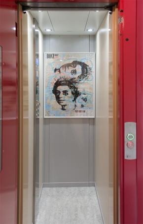 L'interno dell'ascensore