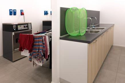 la lavanderia del fabbricato su via Rombon