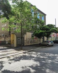 La palazzina vista da via Ampère