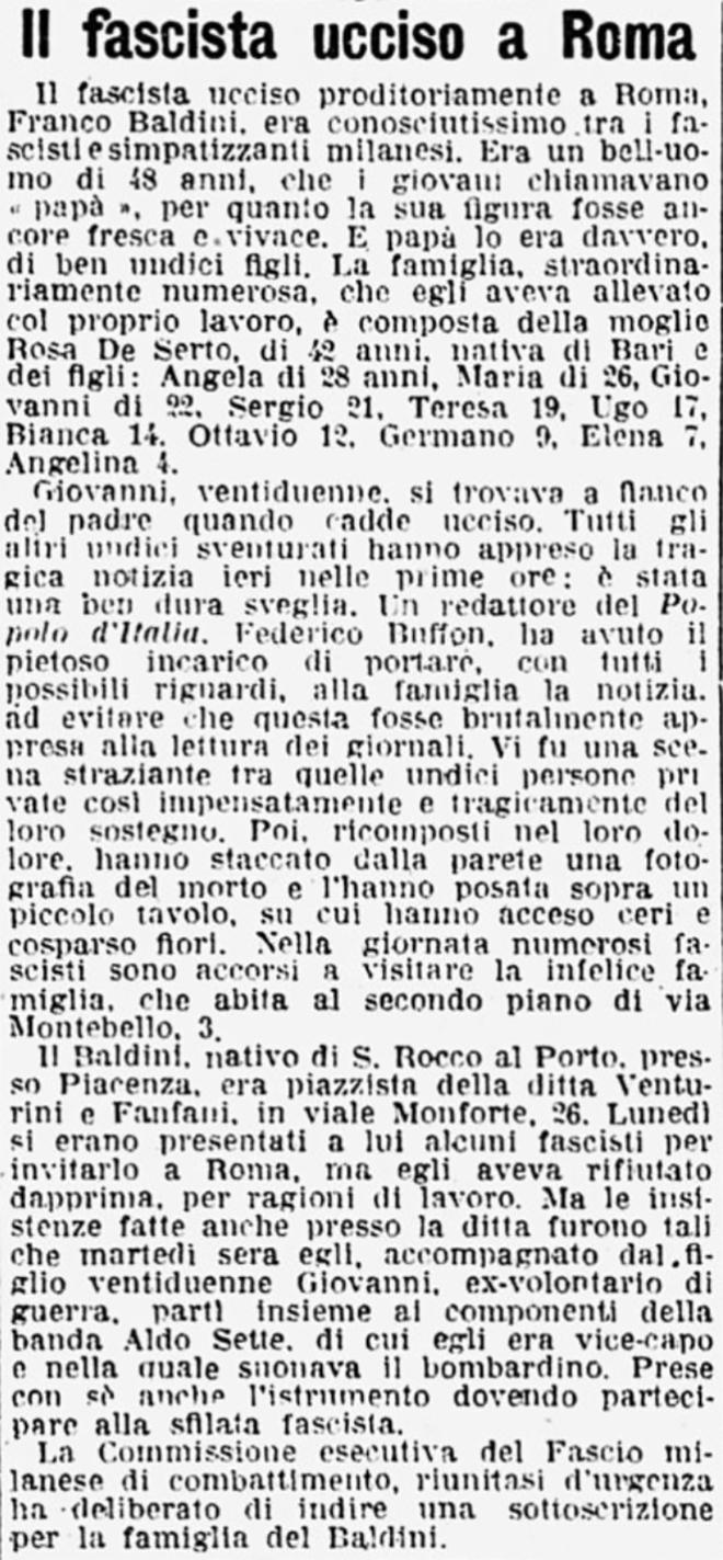 19211111 cds pag4 IL FASCISTA UCCISO A ROMA