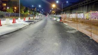 Percorsa via Rodano si svolta a destra. Qui si vede il tratto di strada fatto.