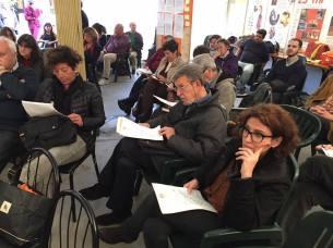 L'assessore municipale Antonella Bruzzese ( a destra) e la consigliera del Municipio 3 Mariolina De Luca (a sinistra) (foto SinistraxMilano)
