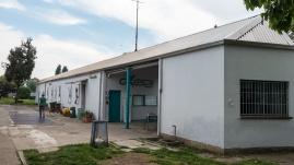 Vista del fabbricato dove c'è l'ingresso e l'ex casa del custode
