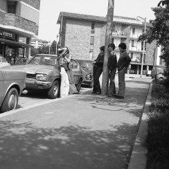 Quartiere Feltre 1976 Corteggiamenti (Foto Beppe De Nardin)