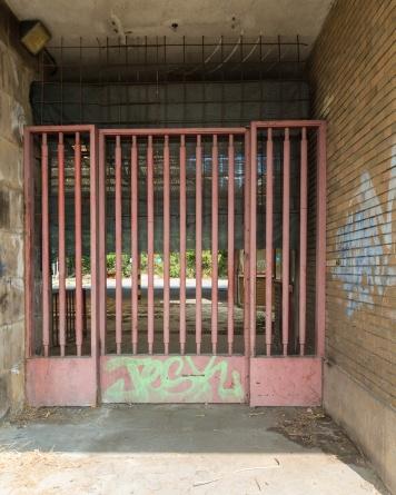 L'ingresso della INNSE Sant'Eustachio utilizzato sino al 2000 dagli operai per entrare in fabbrica. E stato fatto saldare dalla Camozzi