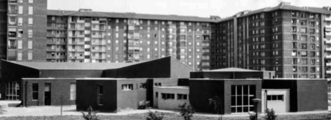 Quartiere Feltre, Milano, 1957-1961; Archivio Luciano Baldessari, Politecnico di Milano